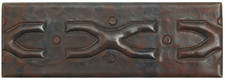 "TL001-2""x 6"" X Design Hammered Copper Tile Border Accent"
