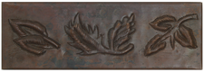"Copper Tile (TL010) 2""x 6""  Leaves Design *free shipping*"