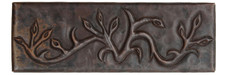 "Copper Tile (TL013) 2""x 6""  Growing Vine Design *free shipping*"