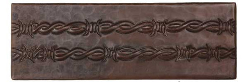 "TL014-2""x 6"" Barbwire Design copper tile liner"
