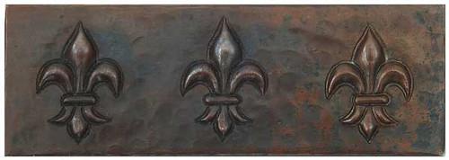 Fleur De Lis copper tile liner