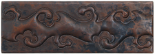 "Copper Tile (TL017) 2""x 6""  Vine Design"