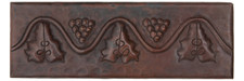 "Copper Tile (TL020) 2""x 6""  Grape Design *free shipping*"