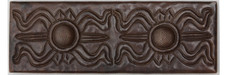 "Copper Tile (TL021) 2""x 6""  Greek Design"