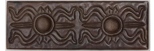 Greek design copper tile liner