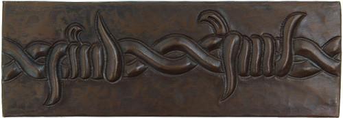Barbwire copper tile liner