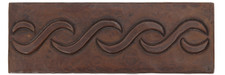 "Copper Tile (TL050) 2""x 6""  Lazy S Design *free shipping*"