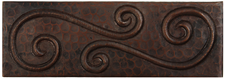 "Copper Tile (TL051) 2""x 6""  Swirl Design *free shipping*"