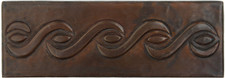 "Copper Tile (TL052) 2""x 6""  Rope Design *free shipping*"