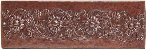 Daisy Vine designer copper tile liner