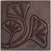 Fern leaves copper tile