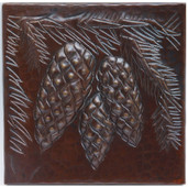 Copper Tile (TL203) Pinecone Cluster Design *free shipping*