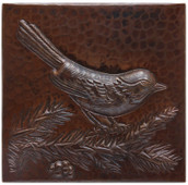 Copper Tile (TL204) Bird on Branch Design *free shipping*