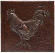 Copper Tile (TL206) Rooster Design *free shipping*