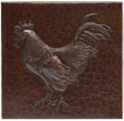 Copper Tile (TL206) Rooster Design