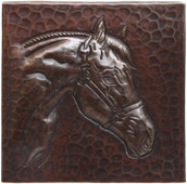 Horsehead design copper tile
