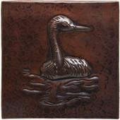 Copper Tile (TL210) Heron Design