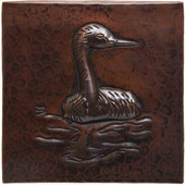Heron design copper tile