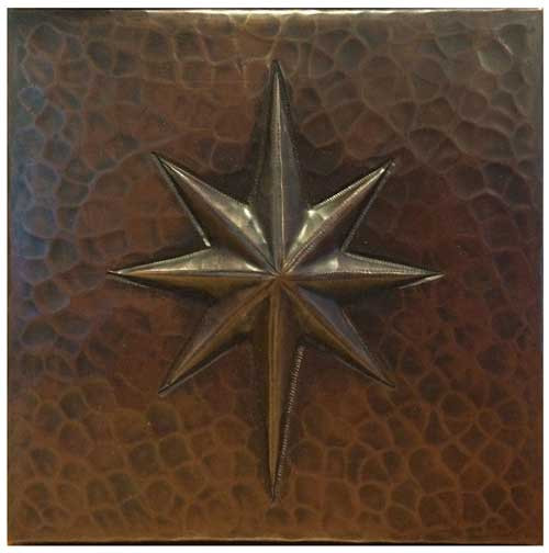 Star design copper tile