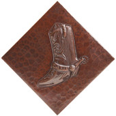 TL256-Diagonal Western Boot Copper Tile