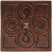 Copper Tile (TL258) Graphic Floral Design *free shipping*