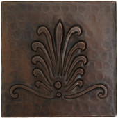 Copper Tile (TL259-4x4) Plume Design *free shipping*