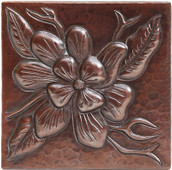 Copper Tile (TL262) Wildflower Design *free shipping*