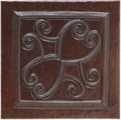 TL263-Heart Scroll Copper Tile