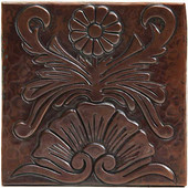 Copper Tile (TL265) Floral Nuevo Design *free shipping*