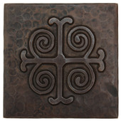 Copper Tile (TL302) Medallion Design *free shipping*