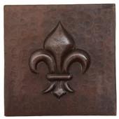 Copper Tile (TL304) Fleur De Lis Design *free shipping*