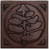 Copper Tile (TL306) Pine Tree *free shipping*