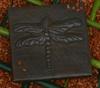 Dragonfly tile, hammered copper