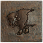 Copper Tile (TL309) Western Buffalo Design *free shipping*