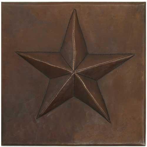 Star design copper tile
