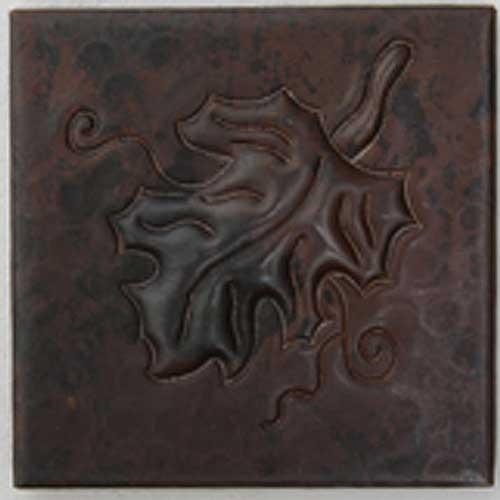 Grape Leaf copper tile