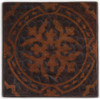 TL314BQ Baroque etched design on hammered copper in dark patina