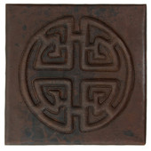Circle Medallion Design Copper Tile TL316