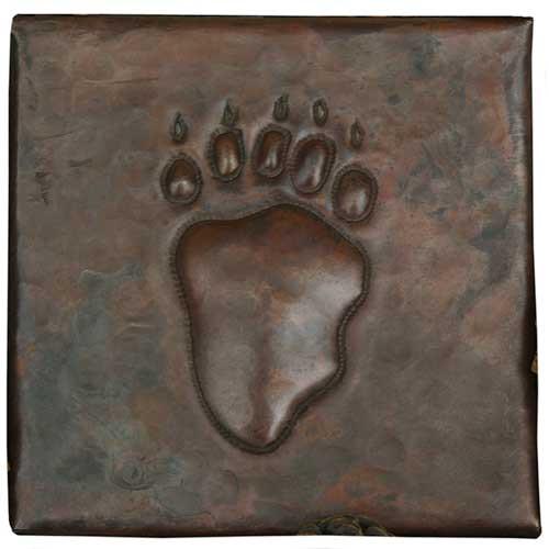 Bear claw design copper tile