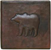 Bear Design Handcrafted Copper Tile TL324