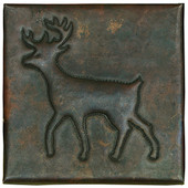 Copper Tile (TL329) Deer Design *free shipping*