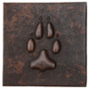 Claw design copper tile