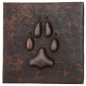 Claw design copper tile