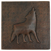 Copper Tile (TL331) Coyote Design *free shipping*