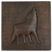 Coyote design copper tile