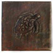 Sea Turtle designer copper tile