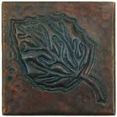 Copper Tile (TL337) Aspen Leaf Design *free shipping*