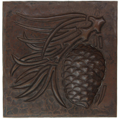 Copper Tile (TL342) Pinecone Arts & Crafts Design *free shipping*