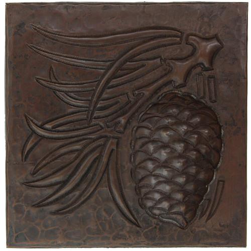 Pinecone design copper tile