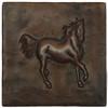 Running Horse design copper tile